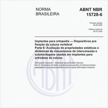 NBR15728-6 de 06/2009