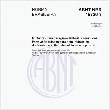 NBR15720-3 de 01/2018