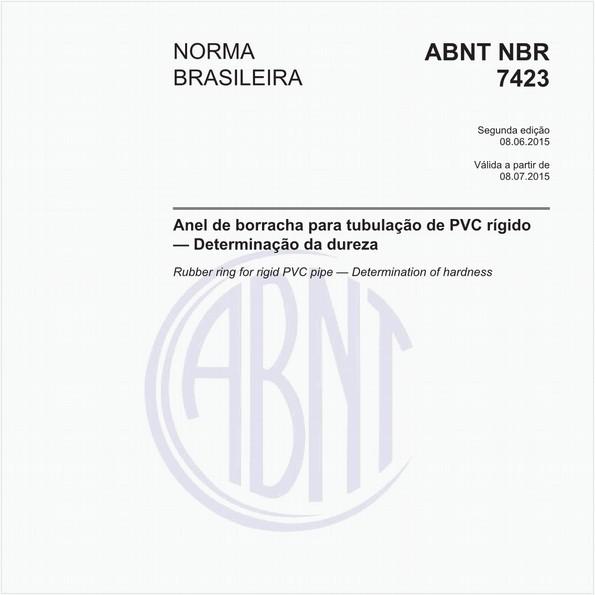 Anel de borracha para tubulação de PVC rígido - Determinação da dureza