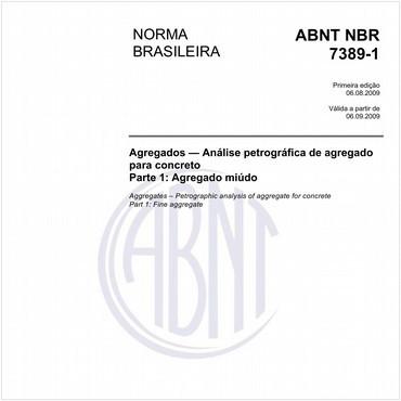 NBR7389-1 de 08/2009