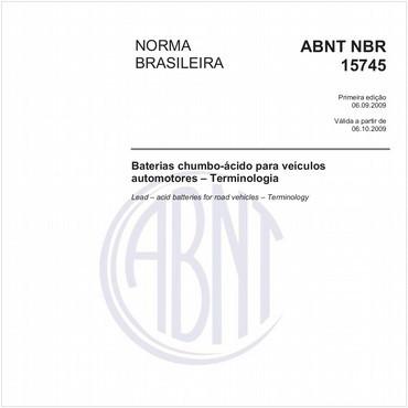 NBR15745 de 08/2009