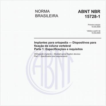 NBR15728-1 de 08/2009