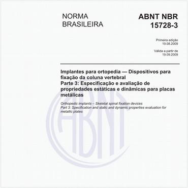 NBR15728-3 de 08/2009