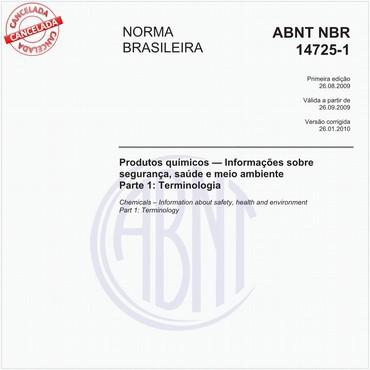 NBR14725-1 de 08/2009