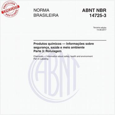 NBR14725-3 de 08/2017