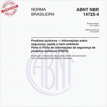 NBR14725-4 de 11/2014