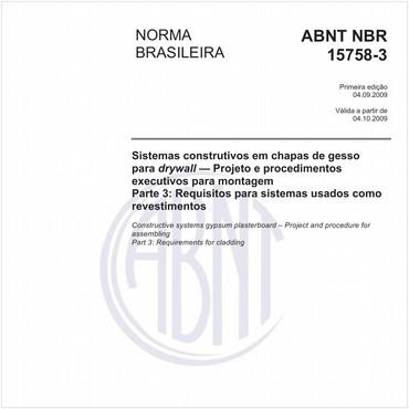 NBR15758-3 de 09/2009