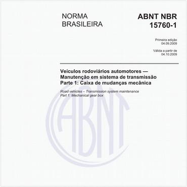 NBR15760-1 de 09/2009