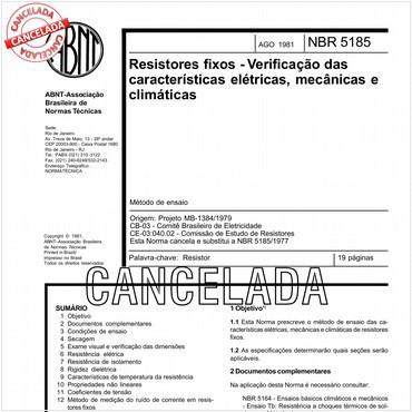 NBR5185 de 08/1981