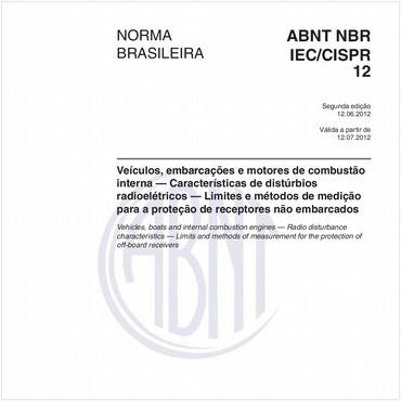 NBRIEC/CISPR12 de 06/2012