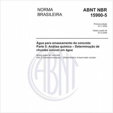 NBR15900-5 de 11/2009