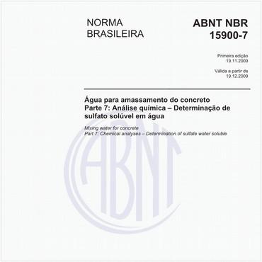 NBR15900-7 de 11/2009