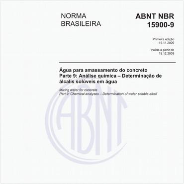 NBR15900-9 de 11/2009