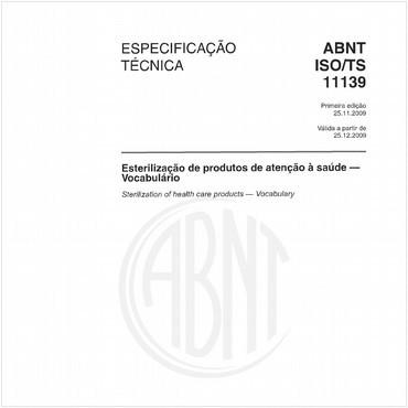 ABNT ISO/TS11139 de 11/2009