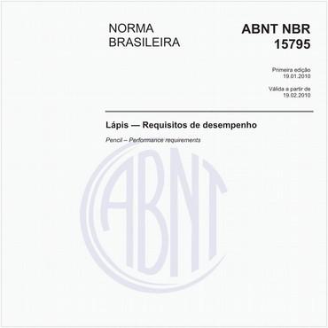 NBR15795 de 01/2010