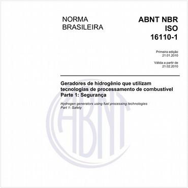 NBRISO16110-1 de 01/2010