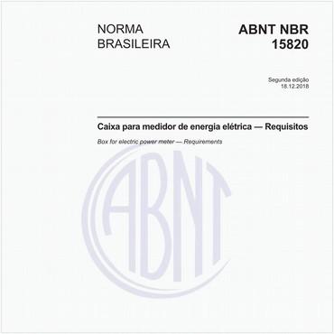 NBR15820 de 12/2018