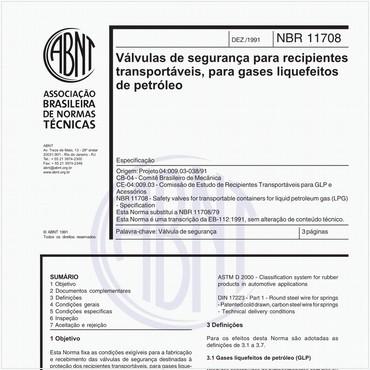 NBR11708 de 12/1991