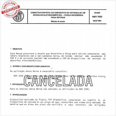 NBR7062 de 12/1981