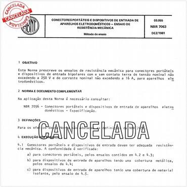 NBR7063 de 12/1981