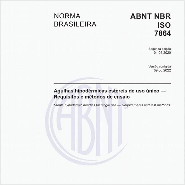 Agulhas hipodérmicas estéreis de uso único — Requisitos e métodos de ensaio