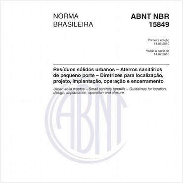 NBR15849 de 06/2010