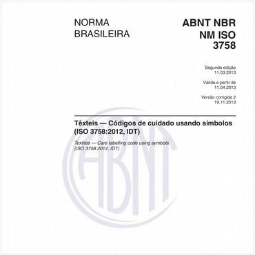 NBRNM-ISO3758 de 03/2013