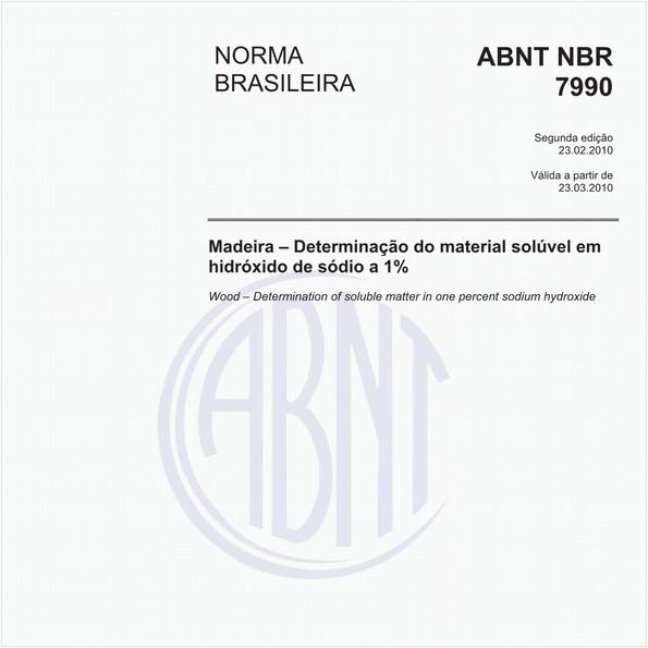 Madeira - Determinação do material solúvel em hidróxido de sódio a 1%