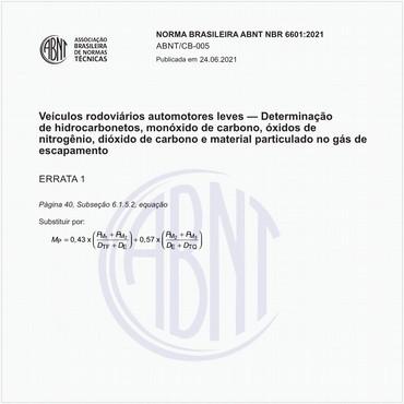 NBR6601 de 05/2021