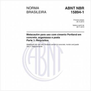 NBR15894-1 de 10/2010