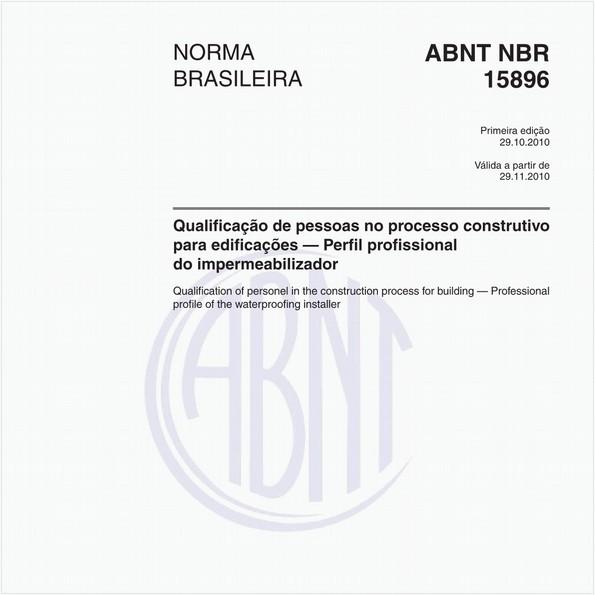 Qualificação de pessoas no processo construtivo para edificações — Perfil profissional do impermeabilizador