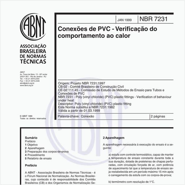 NBR7231 de 01/1999
