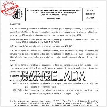 NBR7073 de 12/1981