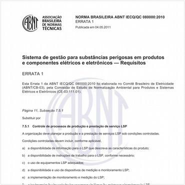 ABNT IECQ-QC 080000 de 12/2010