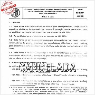 NBR7081 de 12/1981