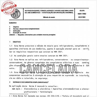 NBR7082 de 12/1981