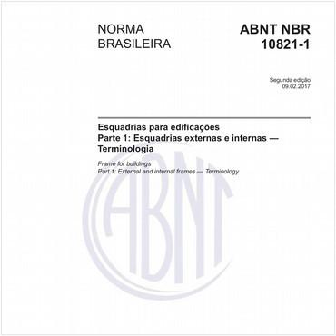 NBR10821-1 de 02/2017