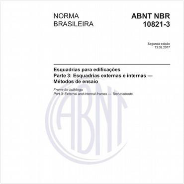 NBR10821-3 de 02/2017