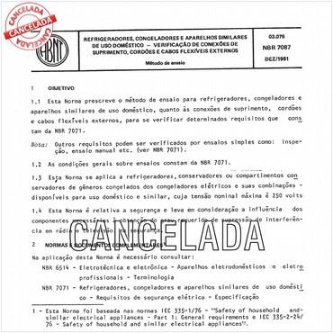 NBR7087 de 12/1981