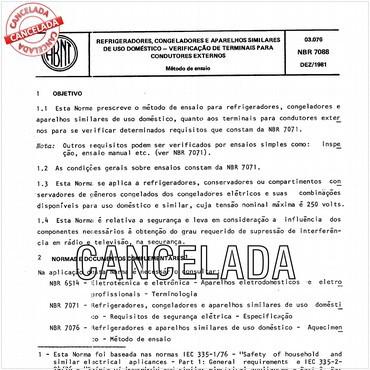 NBR7088 de 12/1981