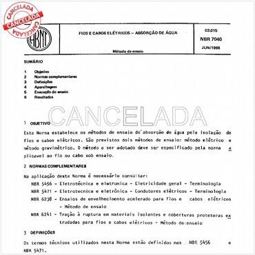 NBR7040 de 06/1986