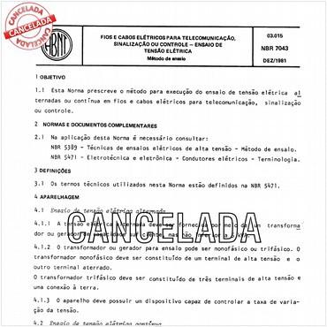 NBR7043 de 12/1981