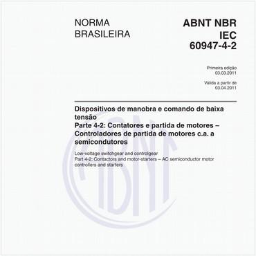 NBRIEC60947-4-2 de 03/2011