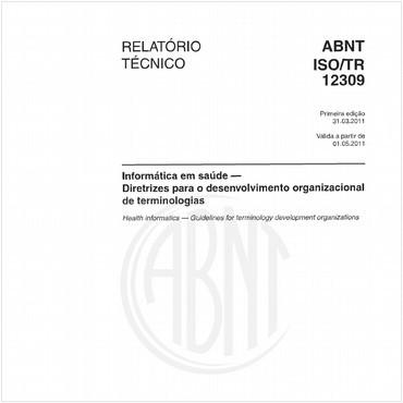 ABNT ISO/TR12309 de 03/2011