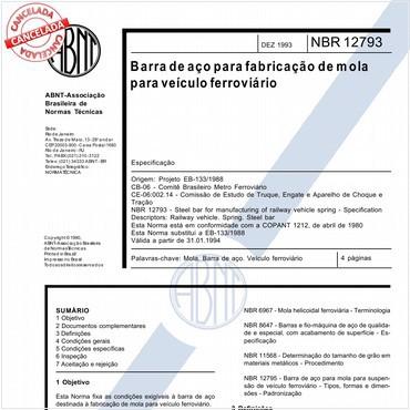 NBR12793 de 12/1993