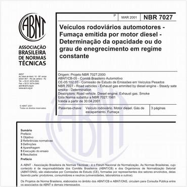 NBR7027 de 03/2001