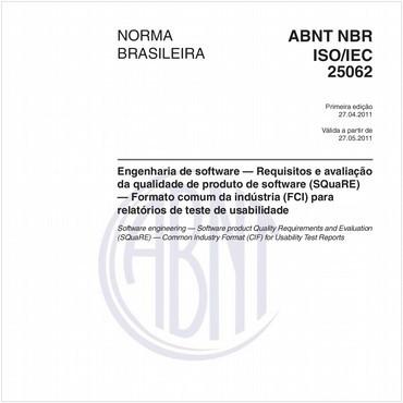 NBRISO/IEC25062 de 04/2011