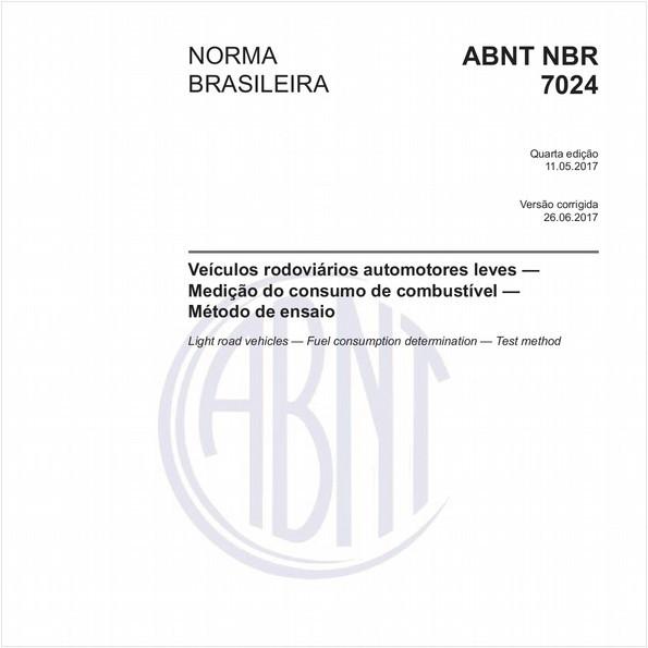 Veículos rodoviários automotores leves - Medição do consumo de combustível - Método de ensaio