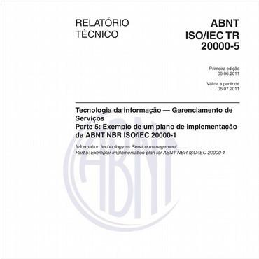 ABNT ISO/IEC TR 20000-5 de 06/2011