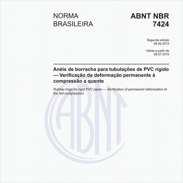 Anéis de borracha para tubulações de PVC rígido — Verificação da deformação permanente à compressão a quente